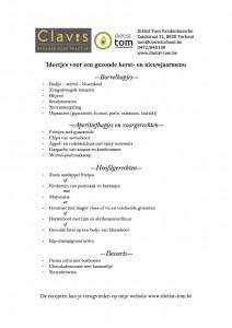 ideetjes voor een gezonde kerst- en nieuwjaarsmenu (voorblad)